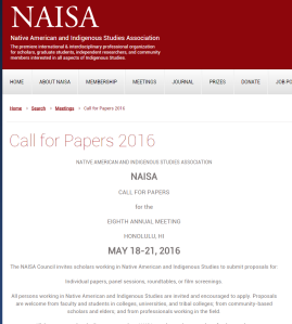 NAISA call for papers