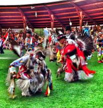 Kamloopa Pow Wow dancers
