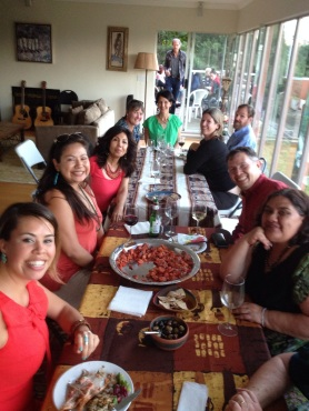 As members of the Academy of Management Indigenous caucus arrived into Vancouver, we celebrated with a salmon BBQ.