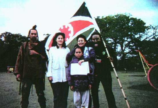 Tuhoe Embassy Ruatoki including Cherryl Smith, Lavinia Kula, myself and ourTuhoe brothers